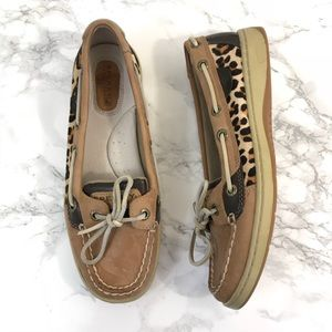 Sperry Top Sider Angelfish Leopard Boat Shoes 6.5